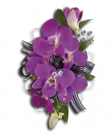 Purple Promise Wristlet Flower Arrangement