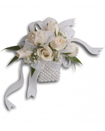 White Whisper Wristlet Flower Arrangement