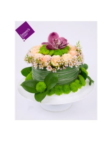 Birthday Delight Cake Flower Arrangement
