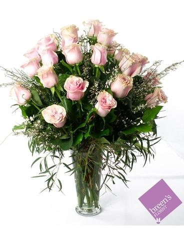 2 Dozen Pink Roses Flower Arrangement
