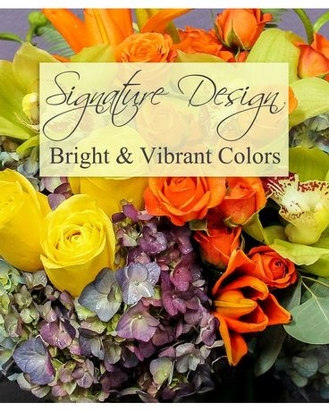 SIGNATURE DESIGN - BRIGHT COLORS Flower Arrangement