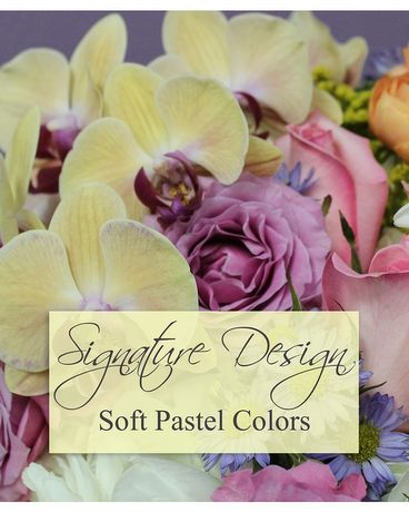 SIGNATURE DESIGN - SOFT PASTELS Flower Arrangement