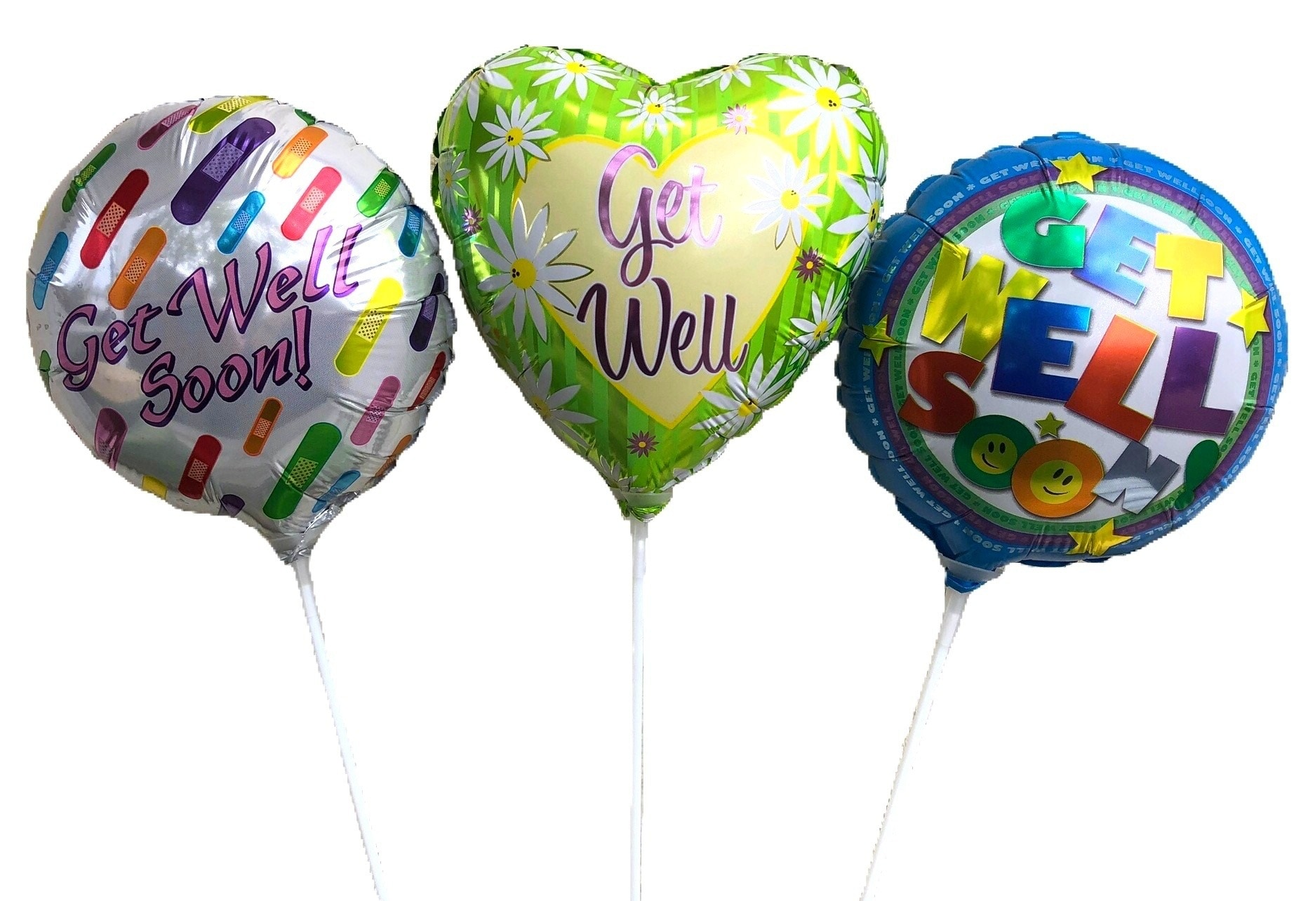 Get Well Stick Balloon