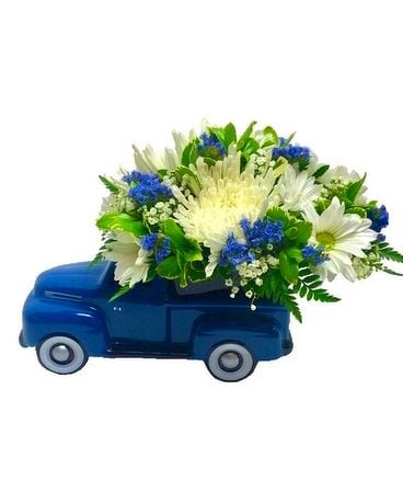 1948 Ford Pickup Blue and White Bouquet