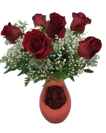 Love's Half Dozen Red Roses