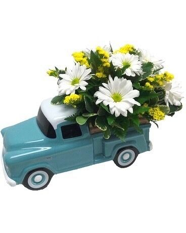 Chevy Pickup Truck Bouquet Flower Arrangement