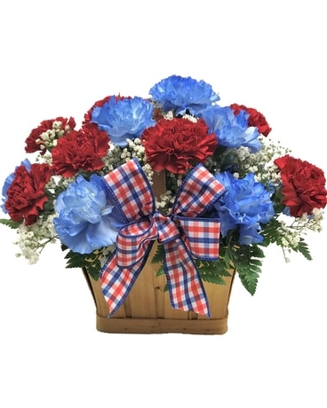 Patriotic Basket Flower Arrangement