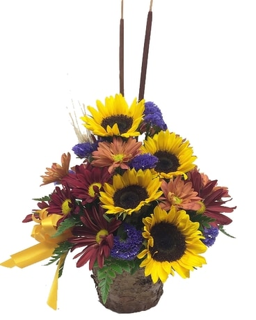 Rustic Autumn Flower Arrangement