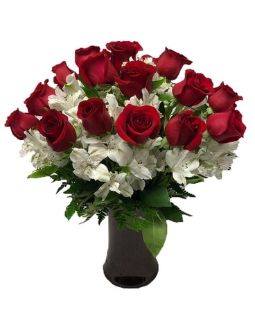 Timeless Love - 18 Red Roses Flower Arrangement
