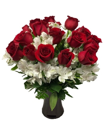 Timeless Love - 2 Dozen Red Roses Flower Arrangement