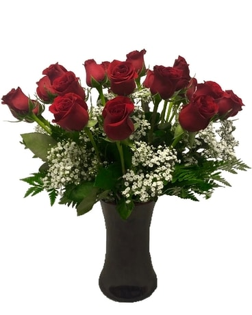 Simply Red Roses - 2 Dozen Flower Arrangement