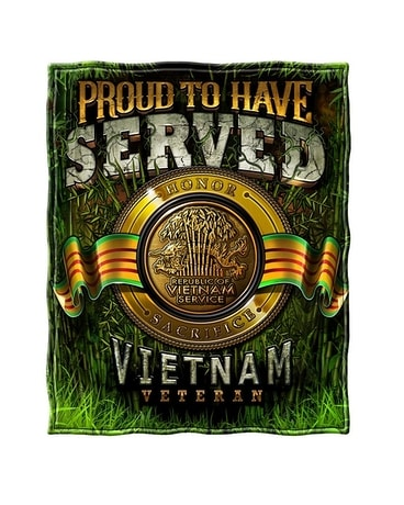 Vietnam Veteran Fleece Throw Blanket Gifts