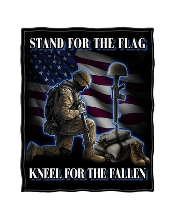 Stand for the Flag Fleece Throw Blanket Gifts