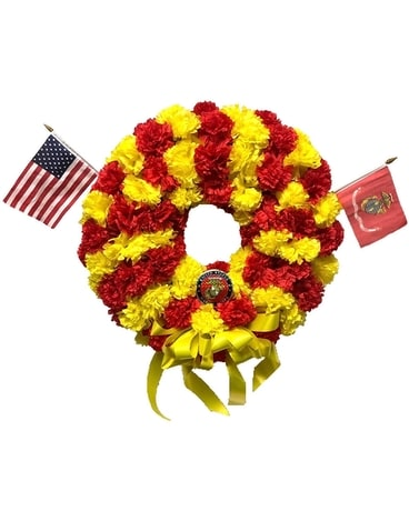 Marine Corps Military Memorial Wreath Flower Arrangement