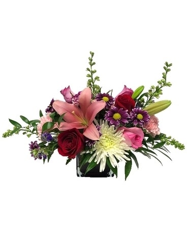 Lovely English Garden Flower Arrangement