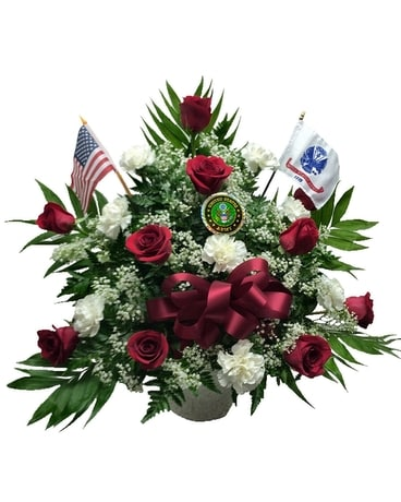 Army Military Funeral Spray Flower Arrangement