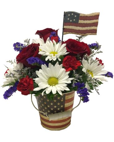 Old Glory Flower Arrangement