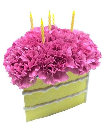 Birthday Cake Flower Arrangement