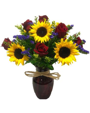 Heart of the Sun Flower Arrangement