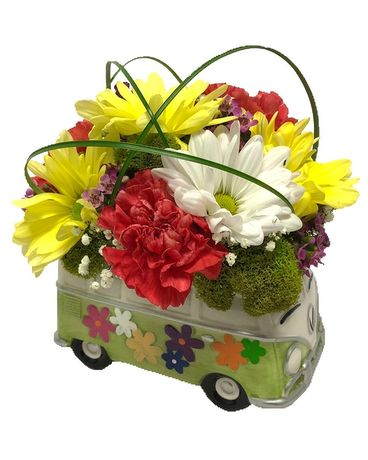 Hippie Bus Flower Arrangement