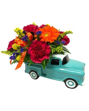Keep On Truckin' Flower Arrangement