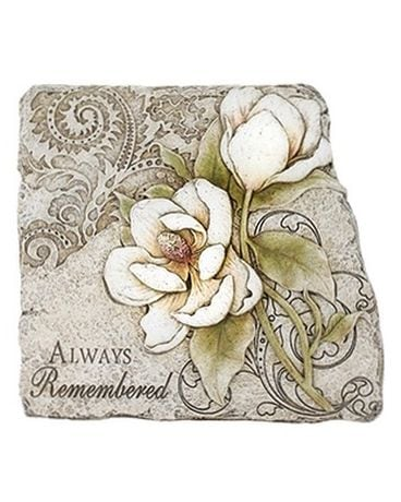 Always Remembered Sympathy Plaque Flower Arrangement
