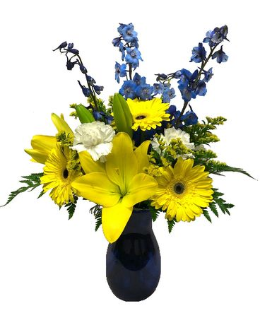Bright Skies Bouquet Flower Arrangement