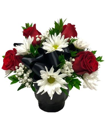 Black Tie Bouquet Flower Arrangement