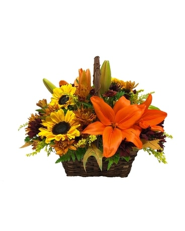 Autumn Days Basket Flower Arrangement
