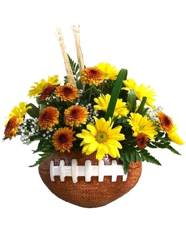 Football Fan Flower Arrangement