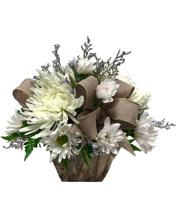 Shades of White Flower Arrangement