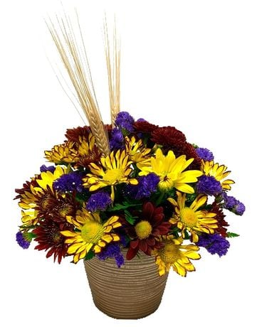 Wisps of Wheat Flower Arrangement