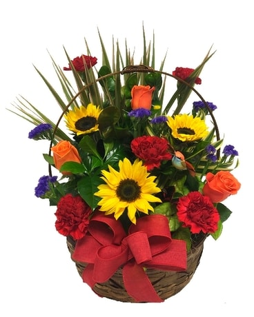 Brilliant Sunflower Dish Garden Flower Arrangement