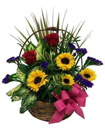 Delightful Dish Garden Flower Arrangement