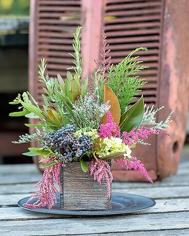 Fall Fragrance Box Flower Arrangement