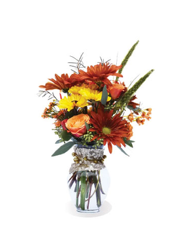 Perfect Fall Pick Me Up Flower Arrangement