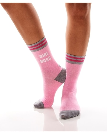 WOMEN'S CREW SOCK, GIRL BOSS Gifts