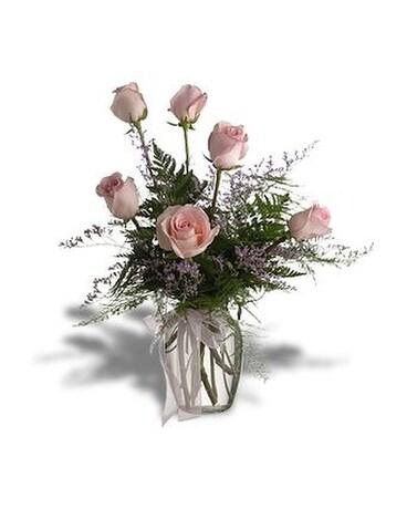 Half dozen pink roses in huntington wv archers flowers and gallery half dozen pink roses flower arrangement mightylinksfo