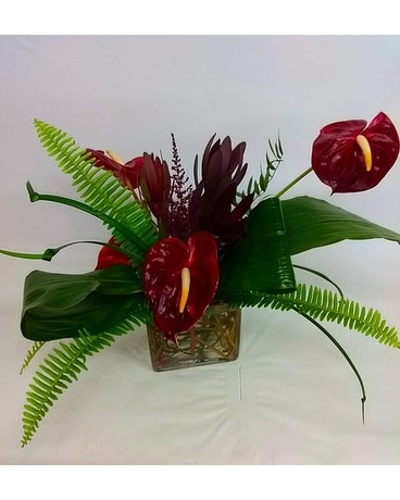 Serene Anthurium Flower Arrangement