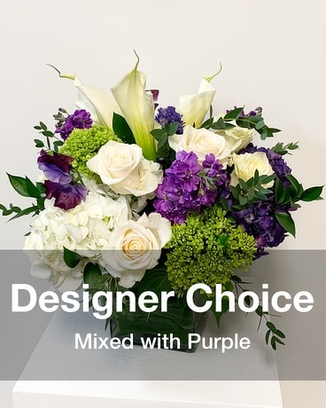 Designer Choice Purple Flower Arrangement