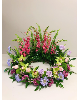 Circle of Life Garden Wreath Flower Arrangement