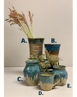 Artisan Pottery: Blue Collection Gifts
