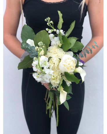 Whites Flower Arrangement