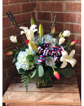 Weekly Special: Red, White & Blue Flower Arrangement