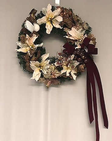 Wreath 5 Flower Arrangement