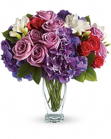 Teleflora's Rhapsody in Purple Flower Arrangement