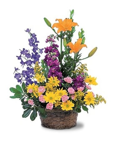 Summer Basket Arrangement Flower Arrangement
