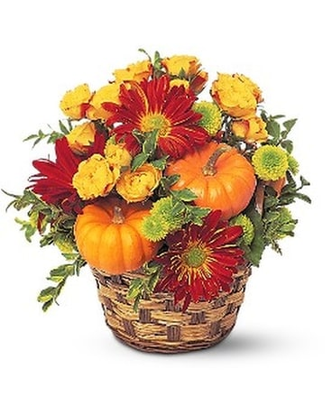 Hint of Fall Flower Arrangement