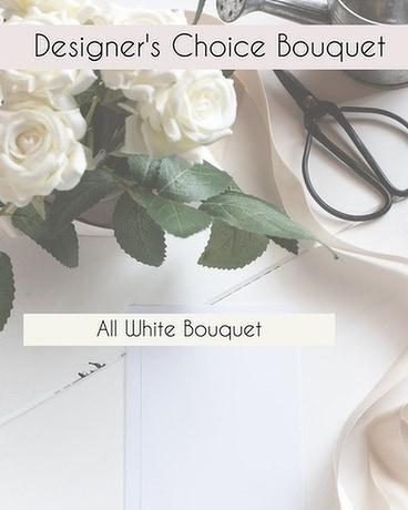 Designer's Choice White Bouquet Flower Arrangement
