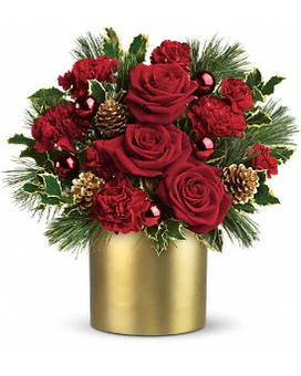 Teleflora's Holiday Elegance Flower Arrangement